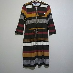 Allison Brittany Striped Drawstring Dress. NWOT
